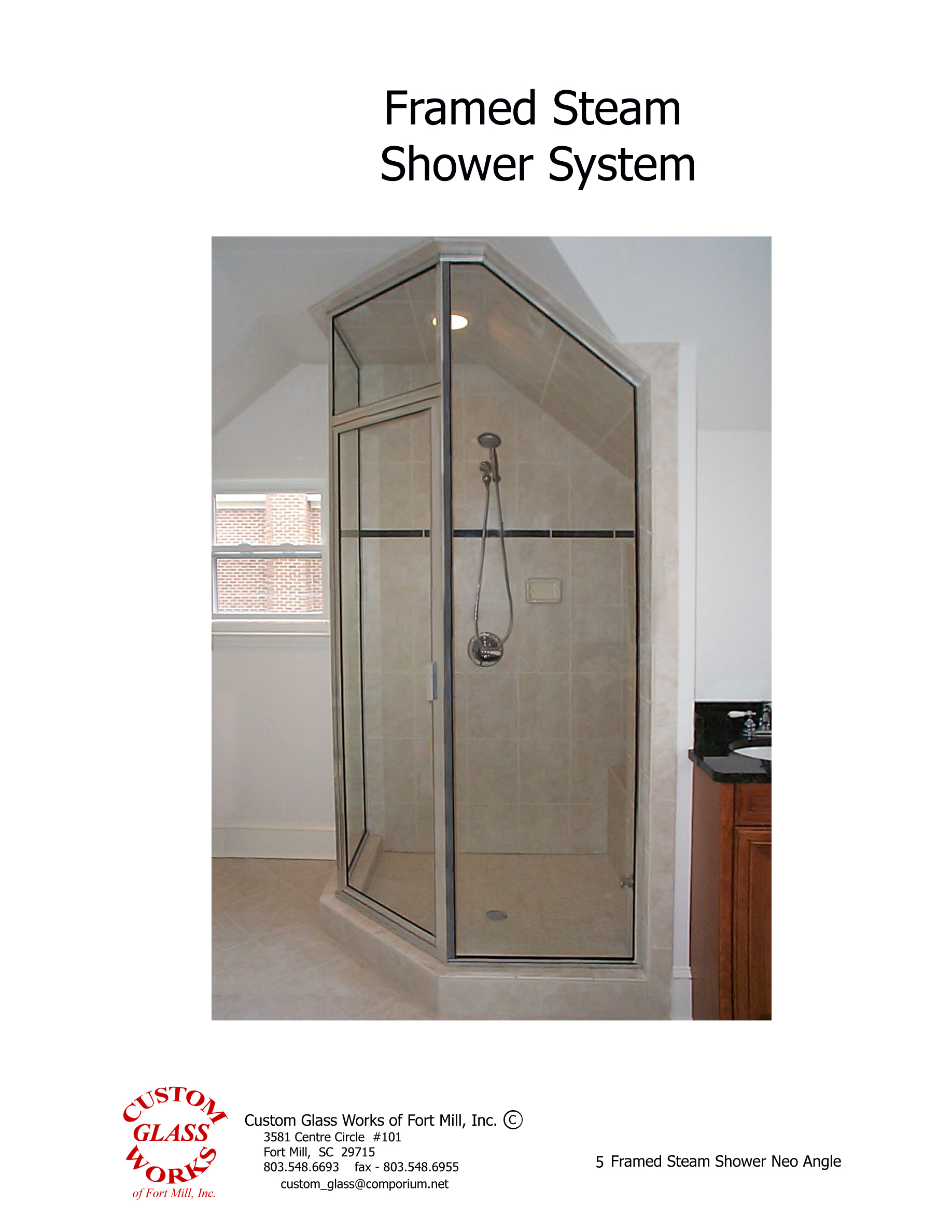 5 Framed Steam Shower Neo Angle